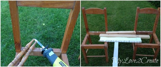 Removing spindles from chair backs