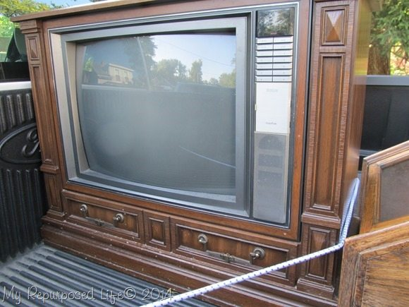 old console tv
