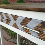 Entry Table Made from Reclaimed Lumber
