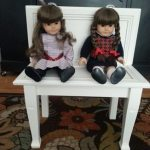 Cabinet Doors into a Small Bench for Kids, Dolls, or the Garden