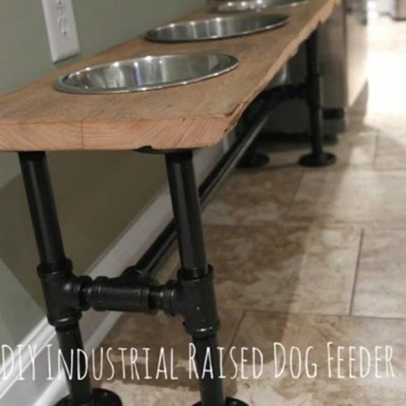 diy-industrial-rustic-raised-dog-feeder