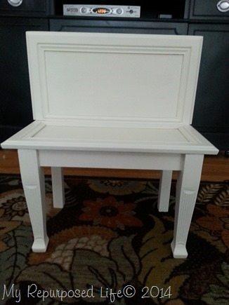 repurposed-cabinet-door-white-bench
