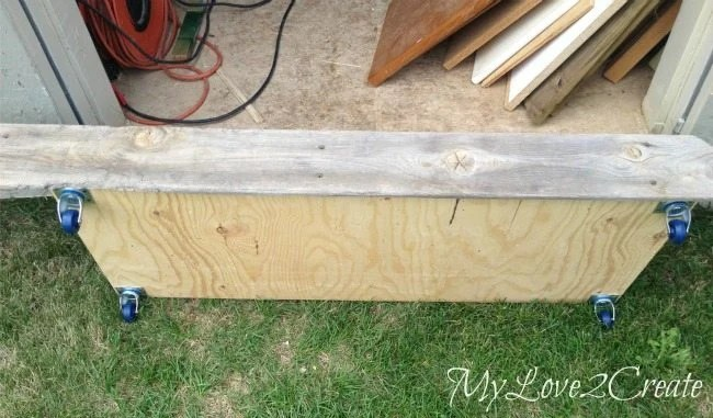 fitting old fence wood for front piece