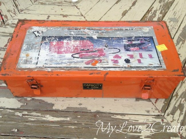 old metal tool box
