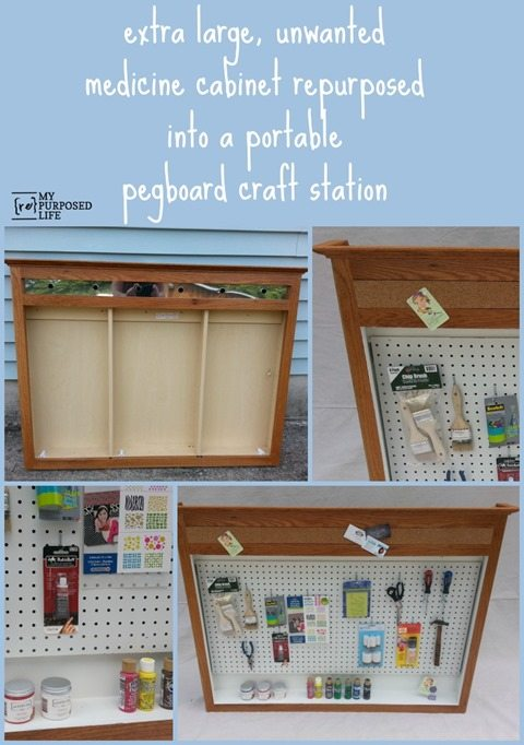 MyRepurposedLife-medicine-cabinet-repurposed-craft-station