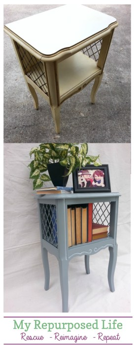 before after french provincial side table nightstand MyRepurposedLife