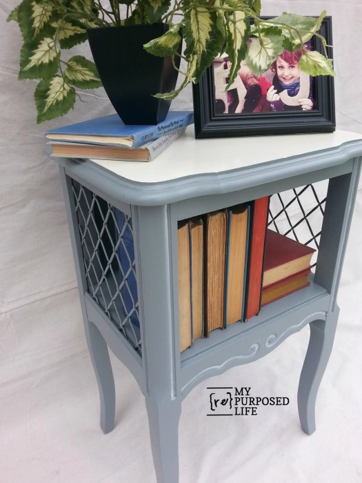 french provincial side table or nightstand