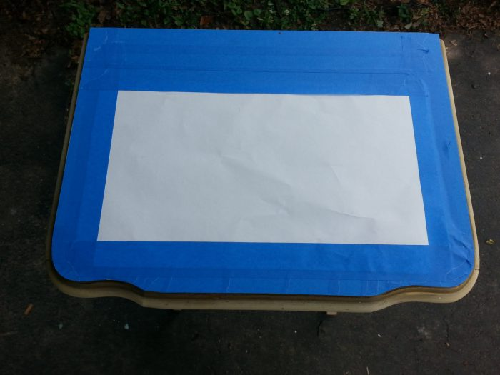 prepare table for painting