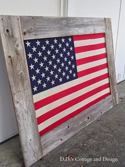 rustic-frame-for-american-flag