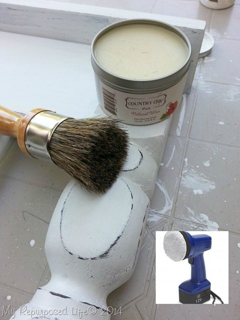 country chic wax buffed with a Homeright AutoRight buffer