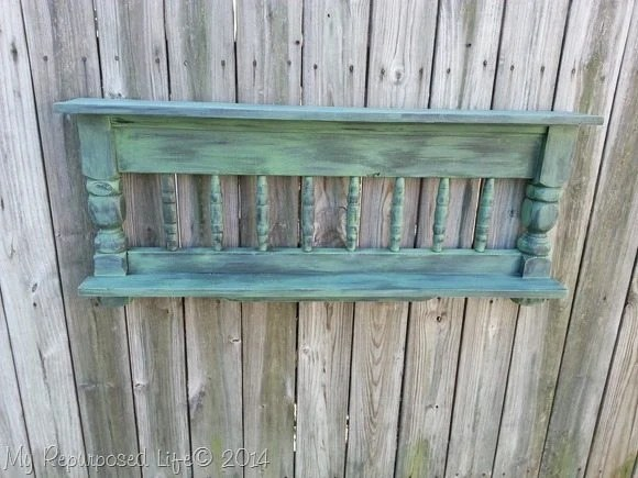rustic-green-bunk-bed-wall-shelf-2