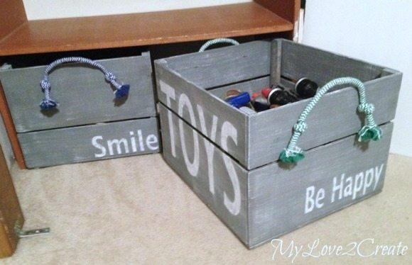 DIY Storage Crates