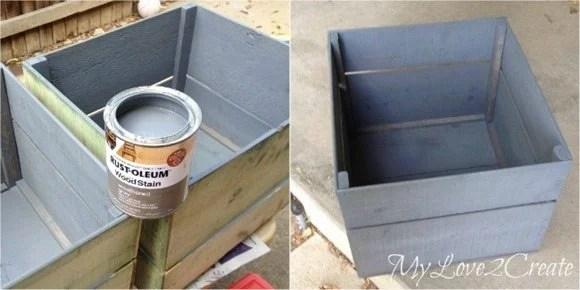 Staining storage crates