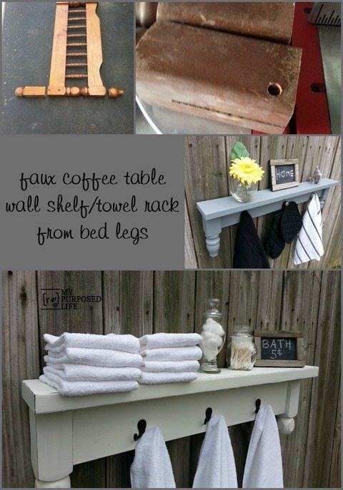 MyRepurposedLife-faux-table-shelf-towel-rack