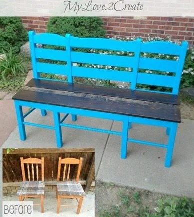 MyLove2Create-Old-chairs-into-new-bench