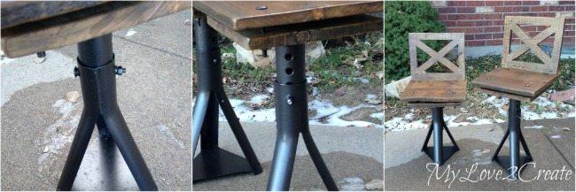adjustable car jack Rustic Industrial kid Chairs