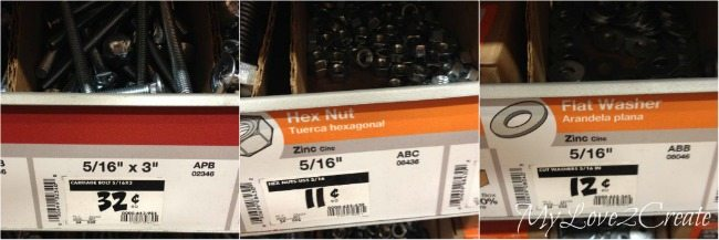 Bolts, hex nuts, and washers