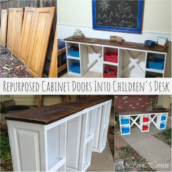 MyLove2Create-repurposed-cabinet-doors-into-childerns-desk