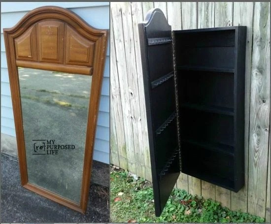 Mirror Jewelry Armoire My Repurposed Life 174