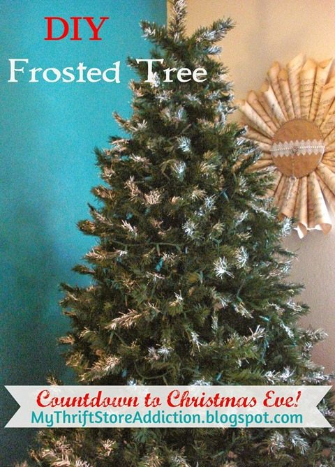 diy-frosted-Christmas-tree-drywall-mud