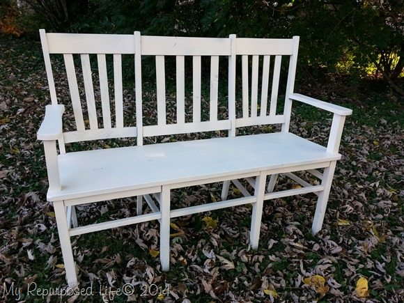 white-double-triple-chair-bench