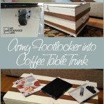 Army Footlocker into Coffee Table with Storage
