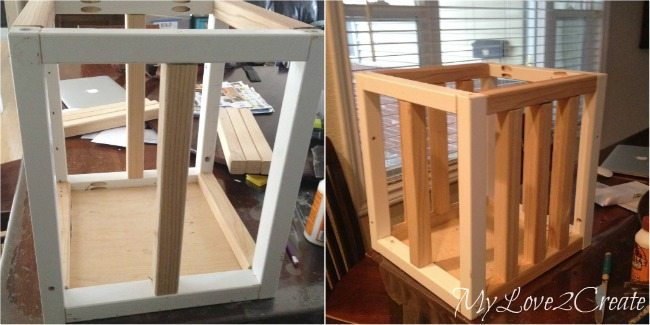 adding 2x2 boards onto crate