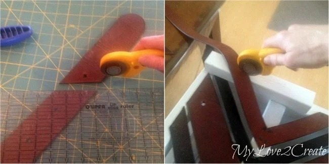 cutting leather belts with rolling fabric cutter