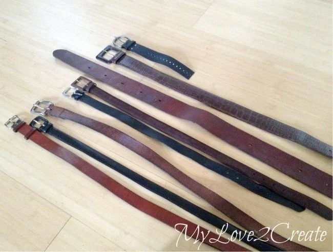 thrifted leather belts