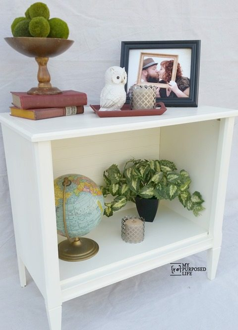 MyRepurposedLife-white-repurposed-tv-stand-cabinet-side-table