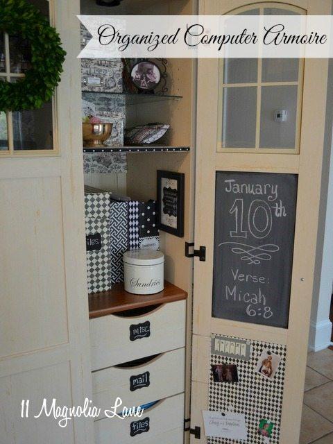computer-armoire-organization