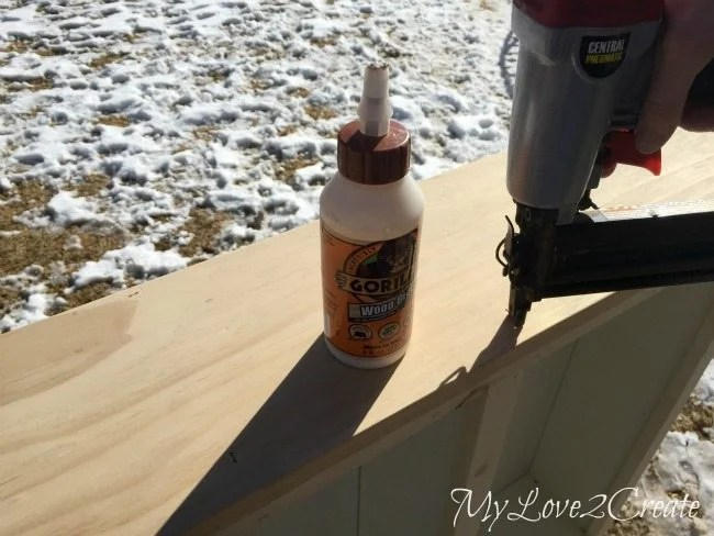glue and nail on top board