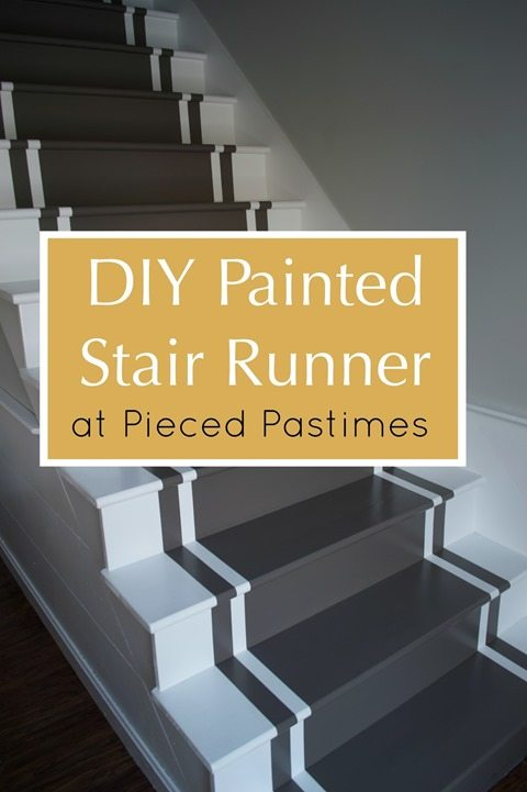 Pieced Pastimes DIY Painted Stair Runner