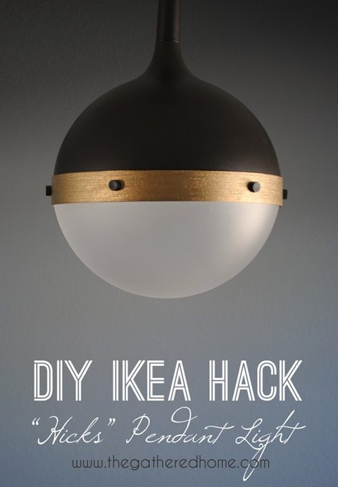 diy ikea hack hicks pendant light