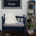Twin Headboard Bench with Storage Drawer