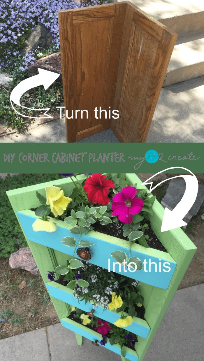 DIY Corner Planter