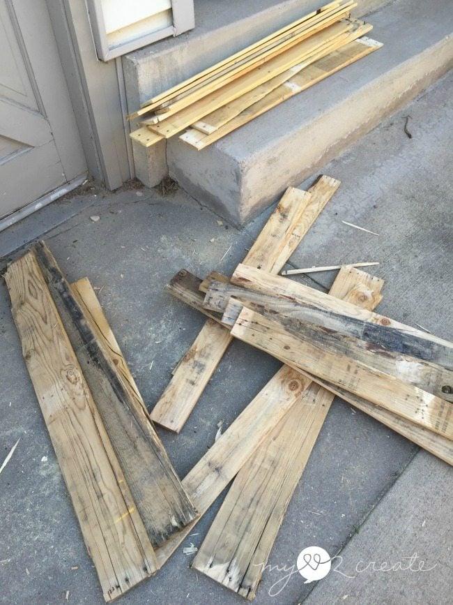 broken up pallets
