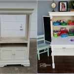 Kids Art Desk Repurposed Armoire