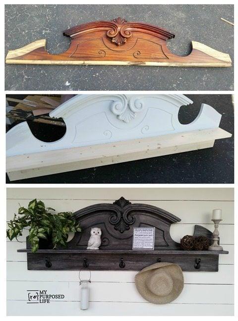 MyRepurposedLife-before-after-china-hutch-pediment-coat-rack-shelf