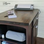 Craft Station made from kitchen cabinet eBook