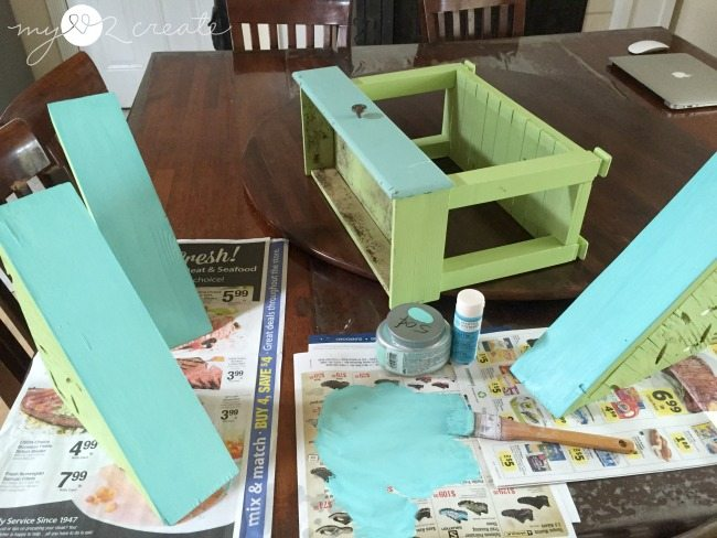 painting faux drawer faces