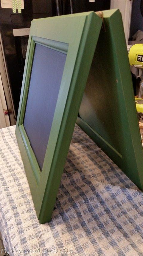 small-chalkboard-easel-cabinet-doors