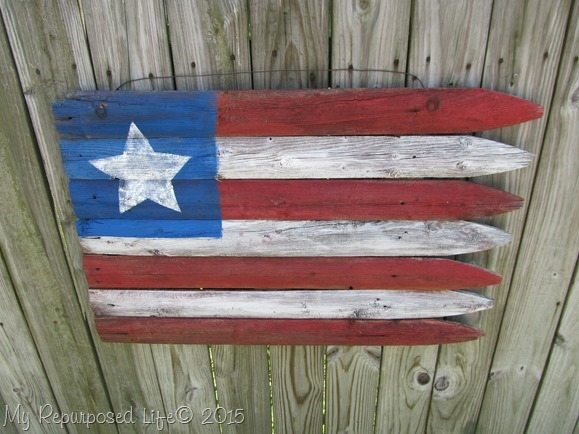 Americana Flag (Repurposed Fence) (28)