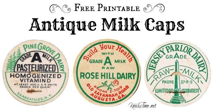 antique milk caps