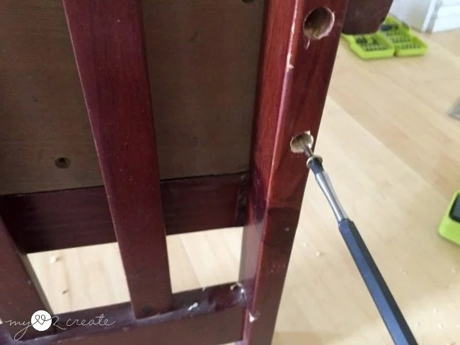 attaching box with screws