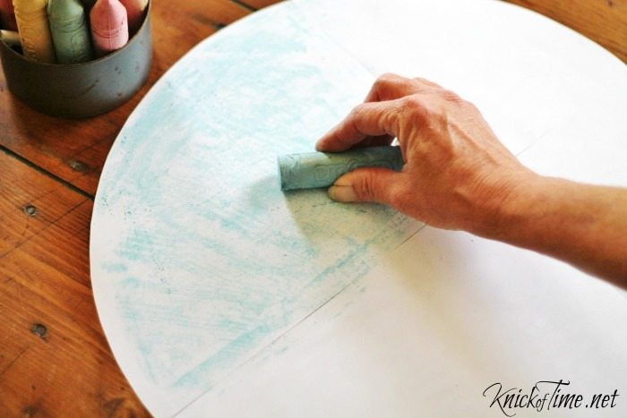 transfer letters with chalk
