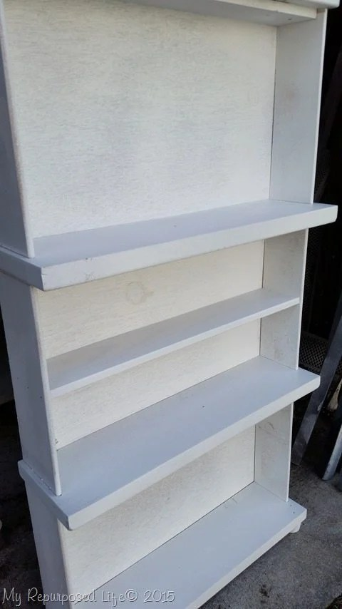 white-diy-repurposed-drawer-bookcase