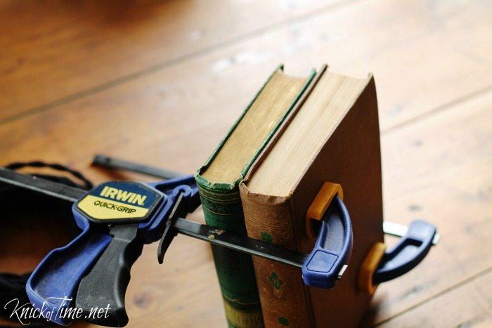 repurposed books lamp