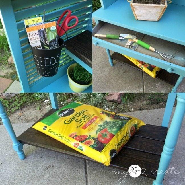 shudder potting bench storage options, MyLove2Create