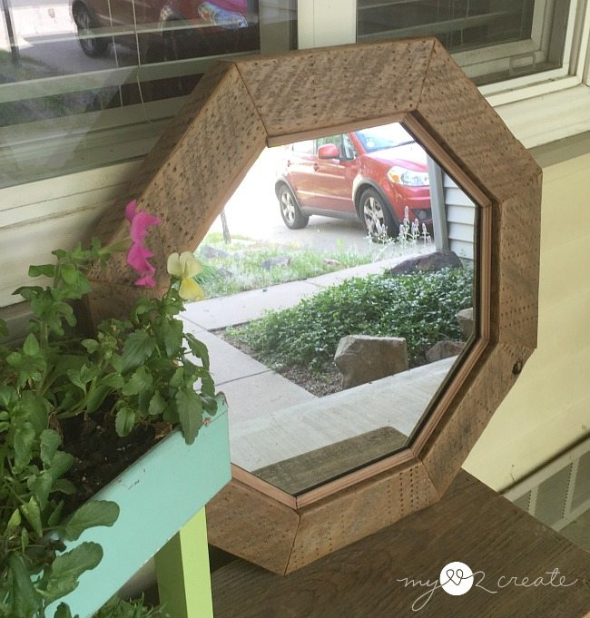 Decorative Rustic Octagon Mirror